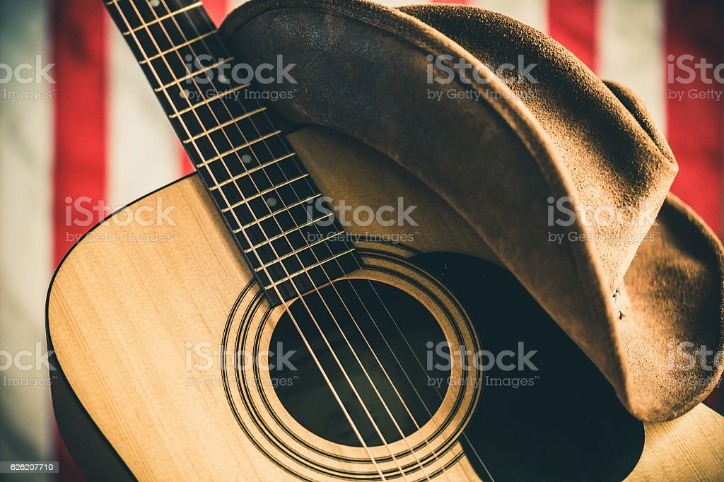 Country and western music stock photo