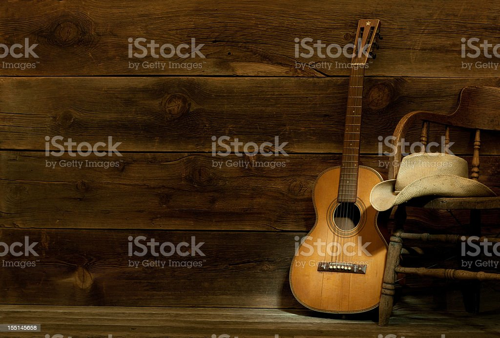 This is a Country and Western theme panorama spot lighting the...