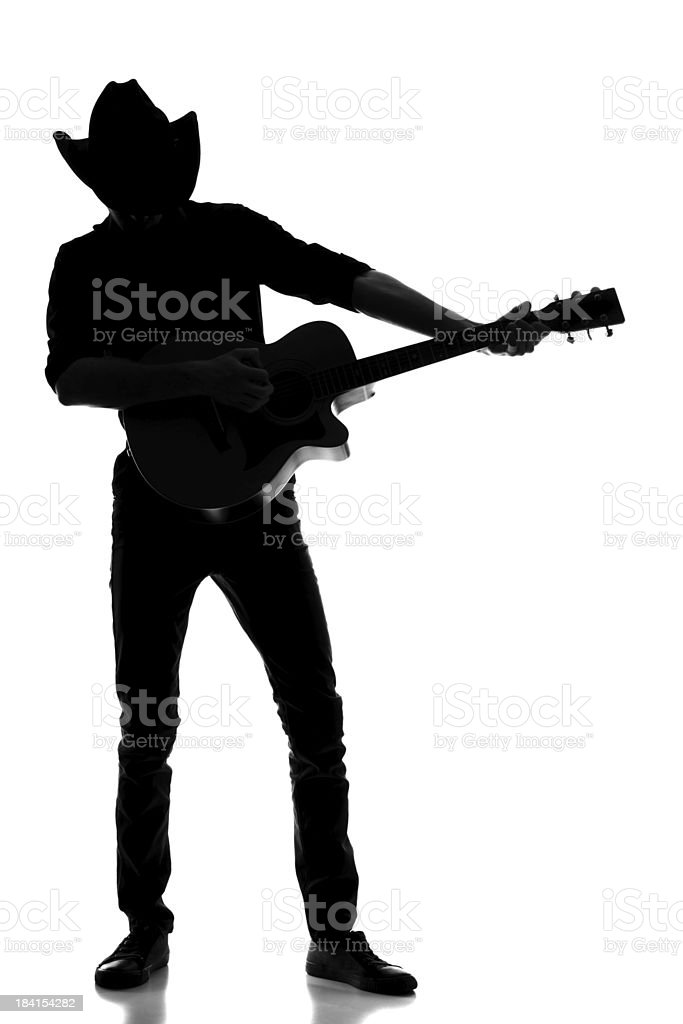 Country and western silhouette royalty-free stock photo