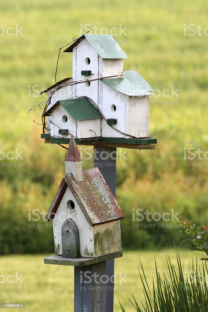 Country birdhouses royalty-free stock photo