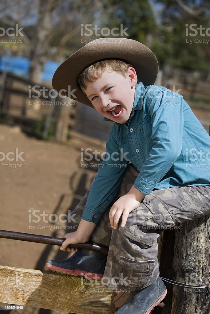 Country Boy stock photo