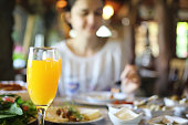 Country breakfast in country house