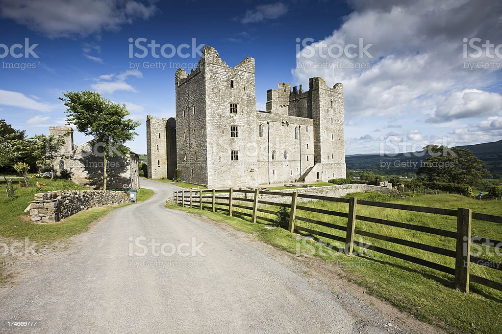 Country Castle in Yorkshire stock photo