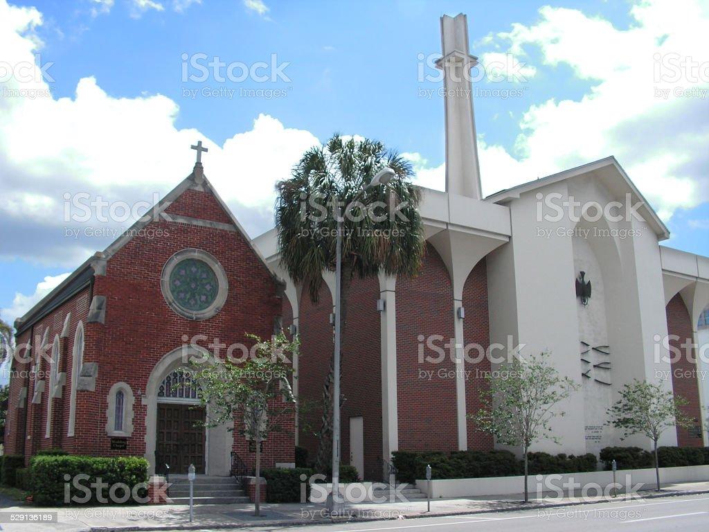 Country Church in Florida USA stock photo