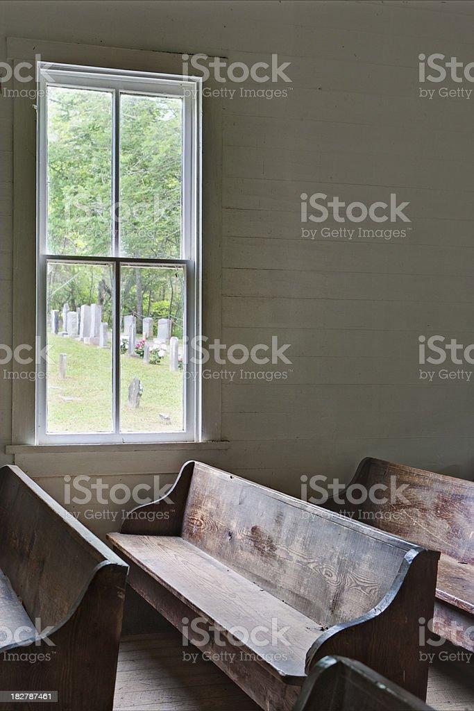 Country church interior royalty-free stock photo