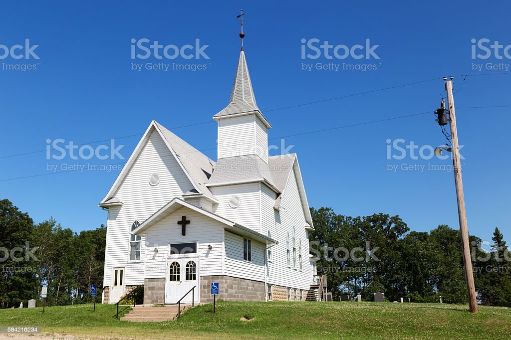 Country Church stock photo
