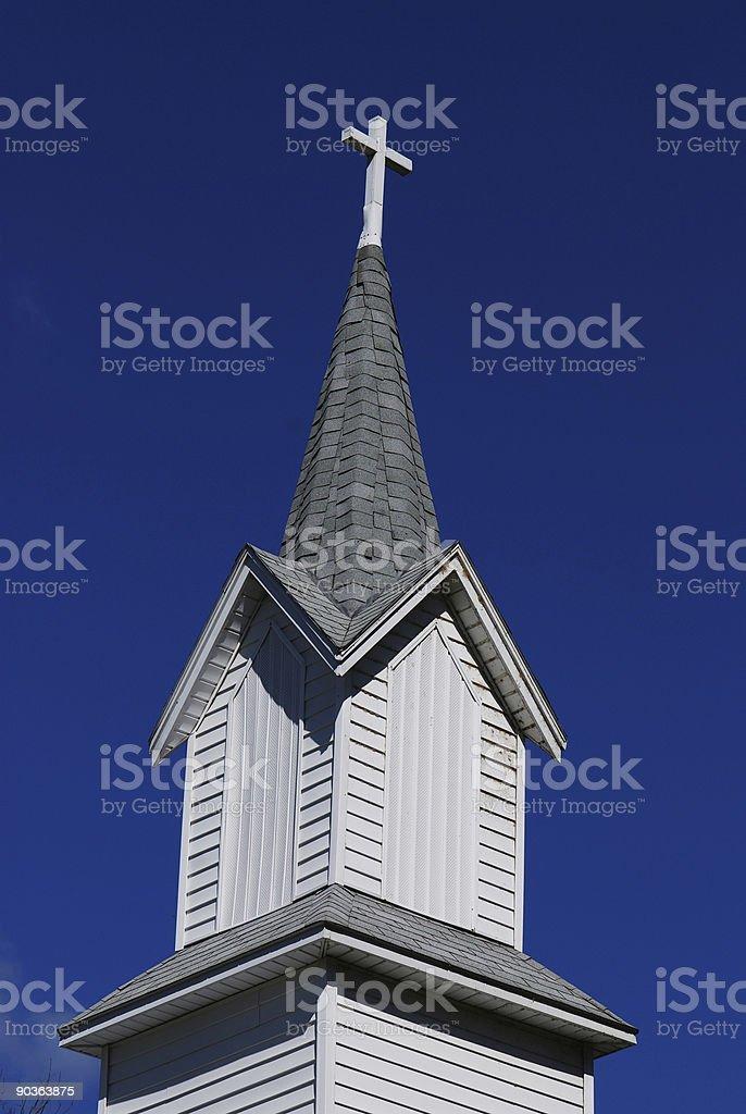 País campanário da igreja foto royalty-free