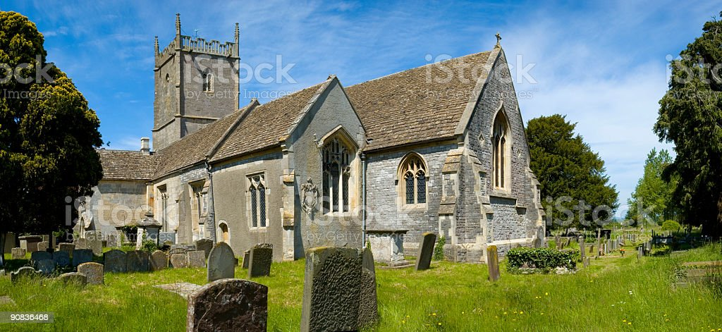Country churchyard royalty-free stock photo