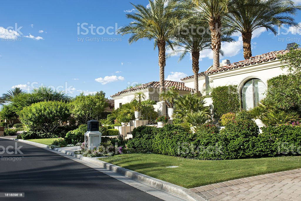 Country Club Community stock photo