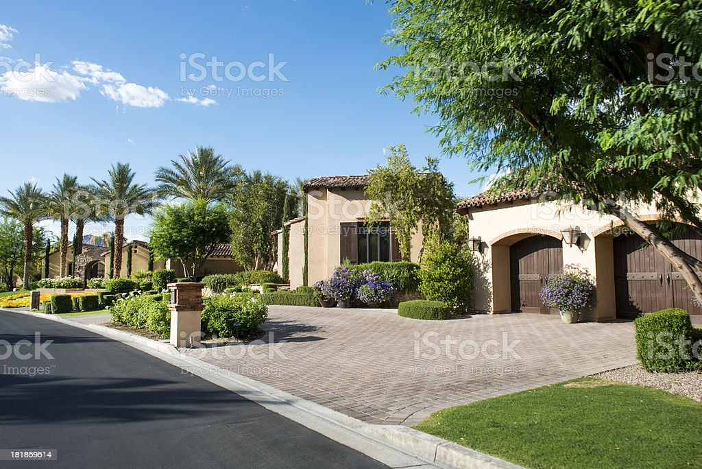 Country Club Homes stock photo