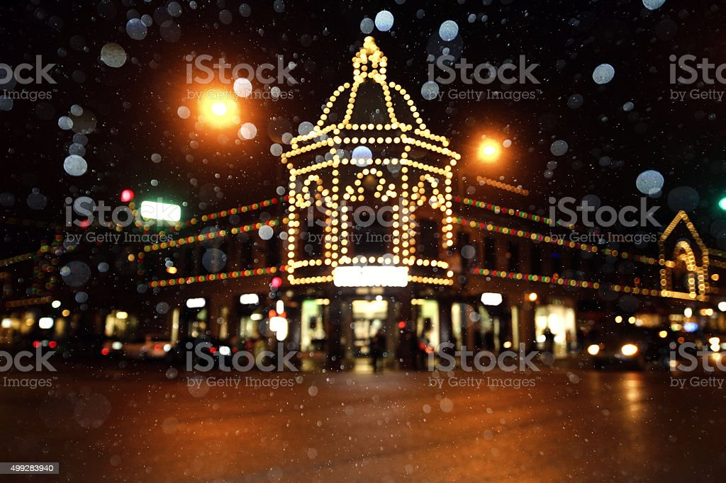 Country Club Plaza Christmas Lights stock photo