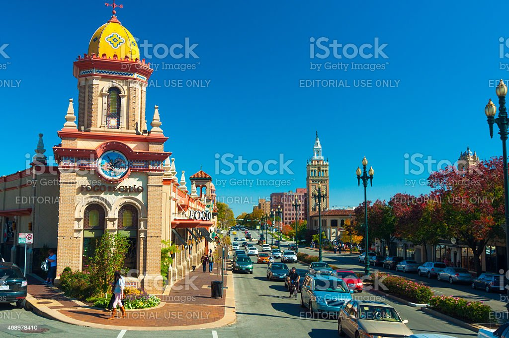 Country Club Plaza District in Kansas City stock photo