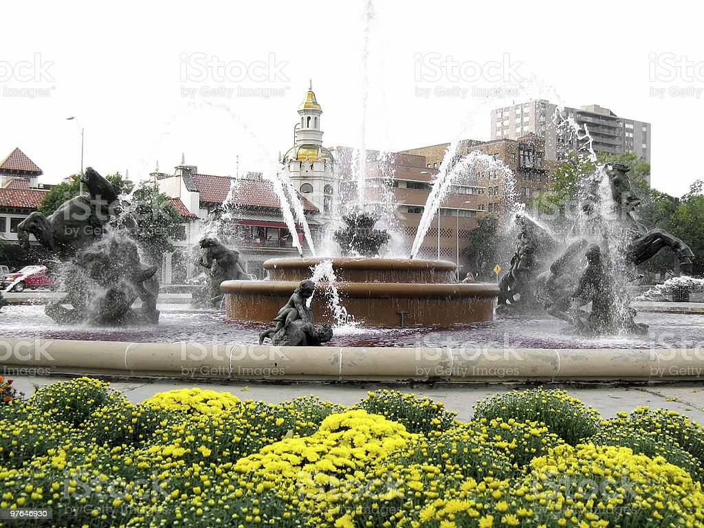 Country Club Plaza KC stock photo