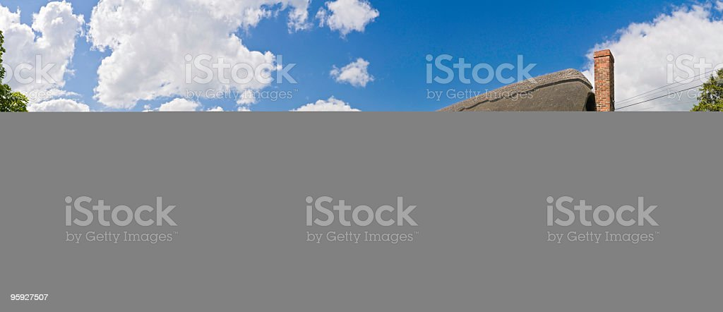 Country cottage picket fence royalty-free stock photo