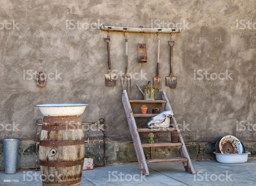 Country Courtyard stock photo