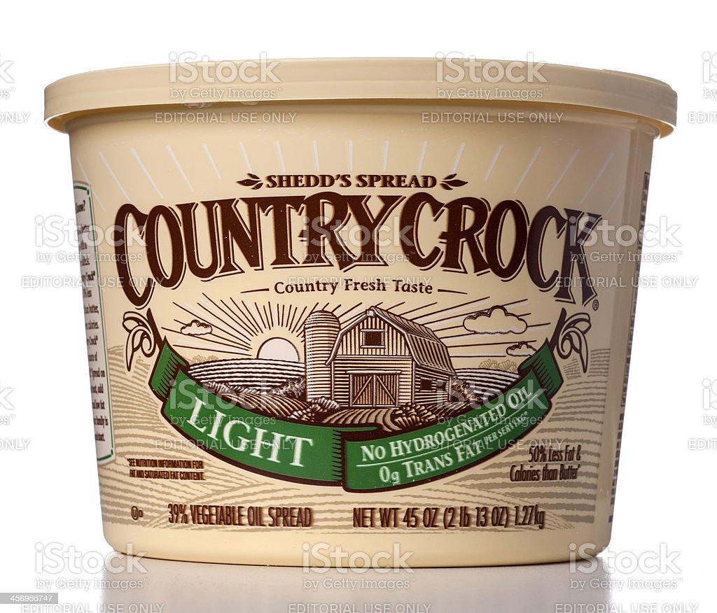 Country Crock Light Spread stock photo