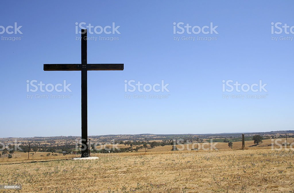 Country cross royalty-free stock photo