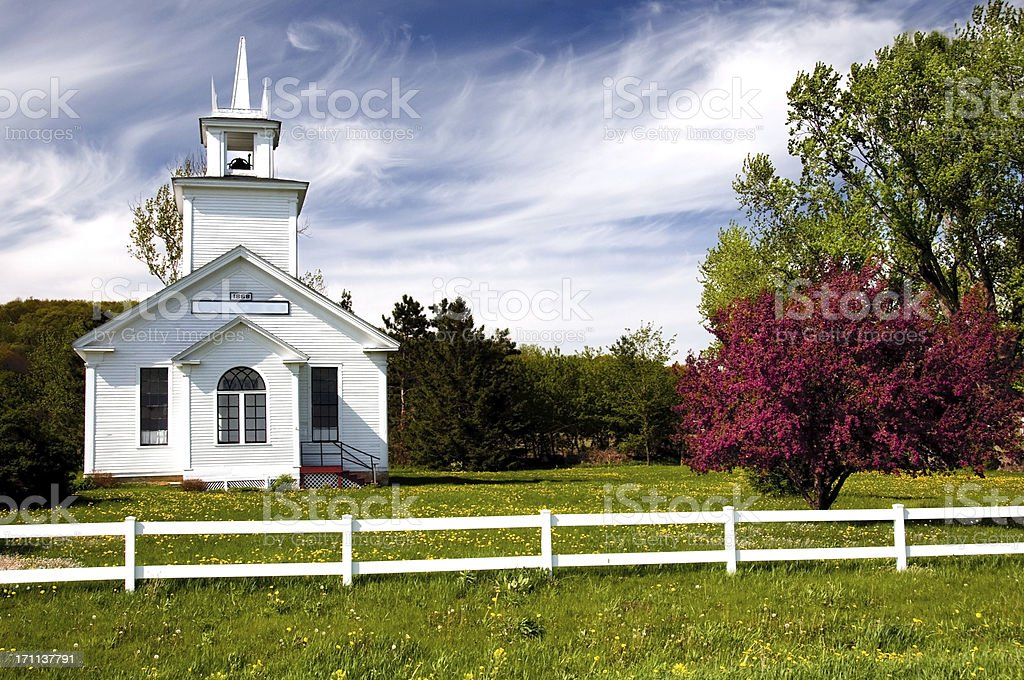 Country Curch in WIsconsin stock photo