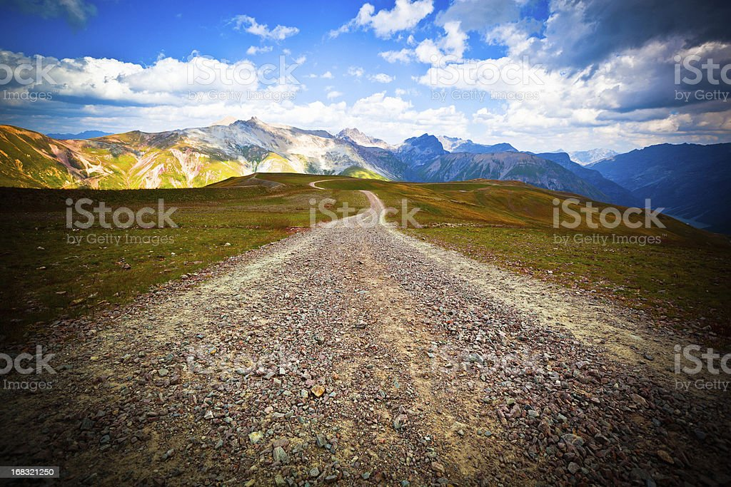 Country Dirt Road in the Alps royalty-free stock photo