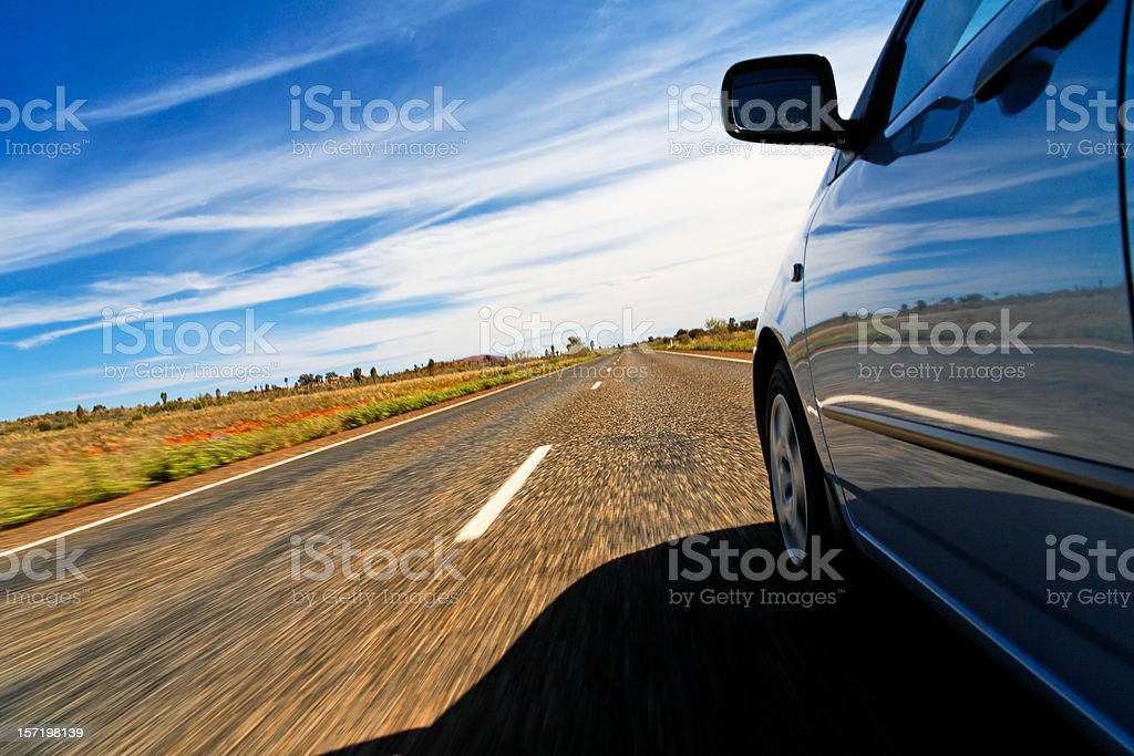 Country drive stock photo