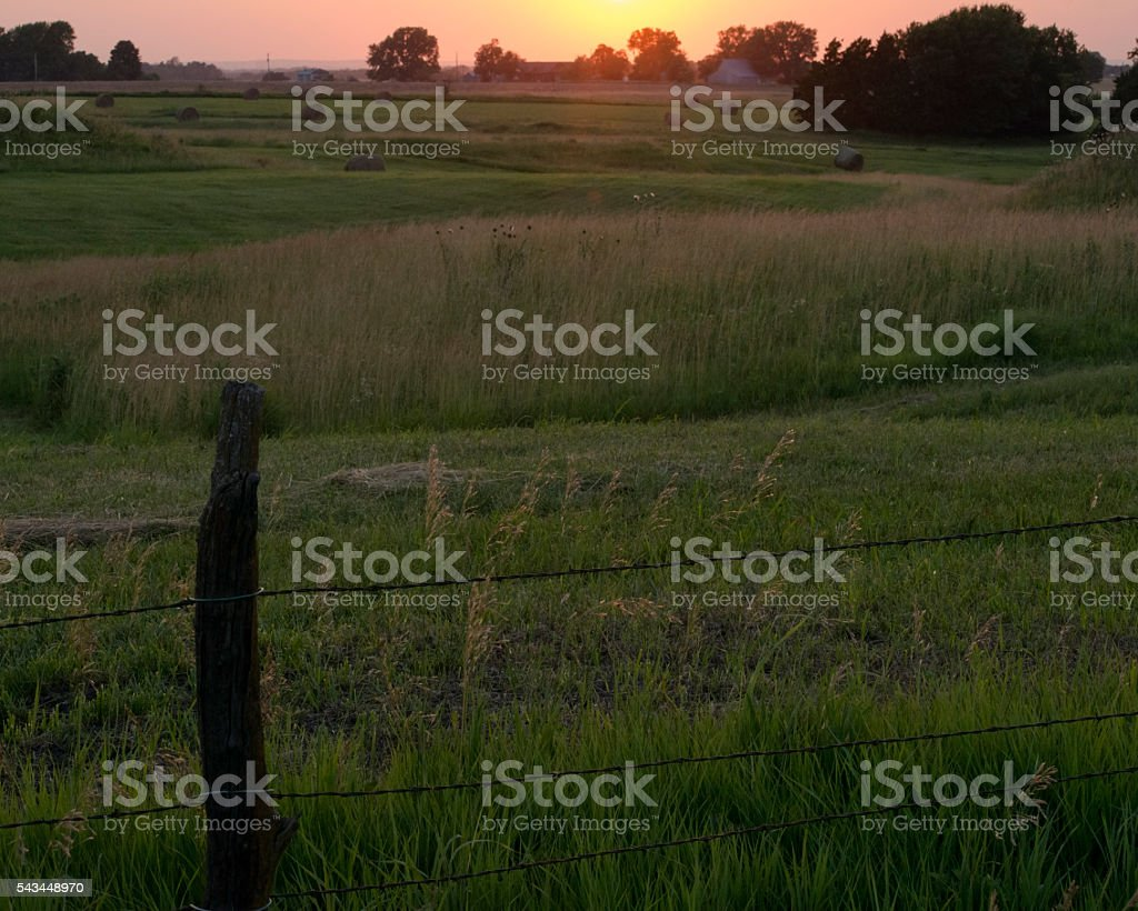 Country Evening stock photo