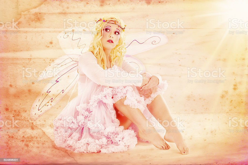 Country Fairy All in Pink stock photo