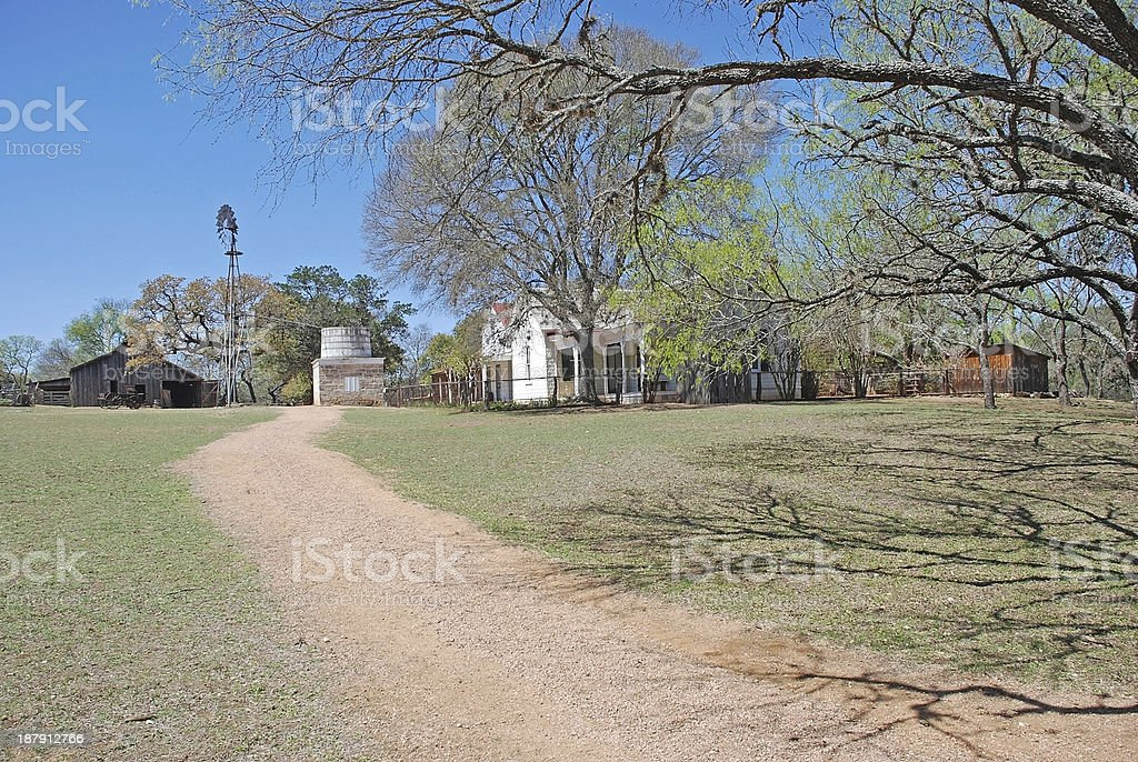 Country Farm House and Barn royalty-free stock photo