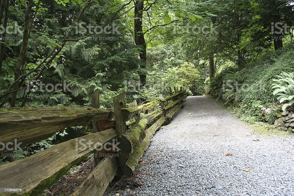 country fenced trail royalty-free stock photo