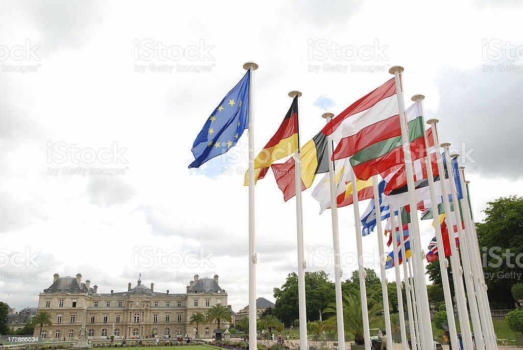 EU country flags royalty-free stock photo