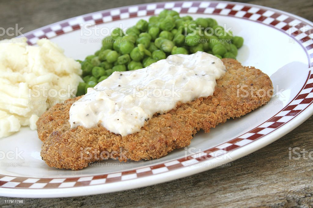 Country Fried Steak stock photo