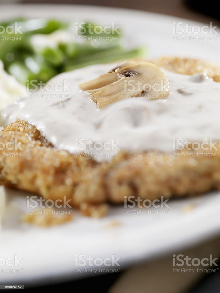 Country Fried Steak royalty-free stock photo