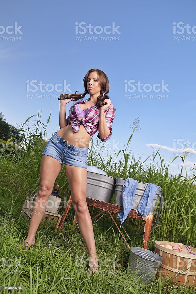 country gal stock photo