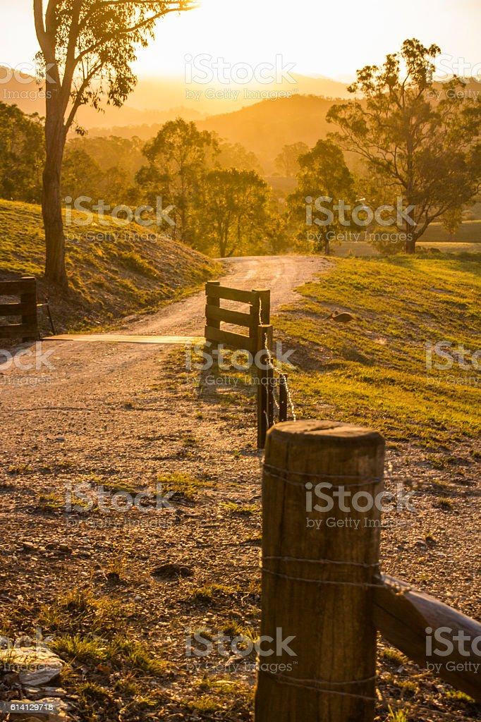 Country Gateway stock photo