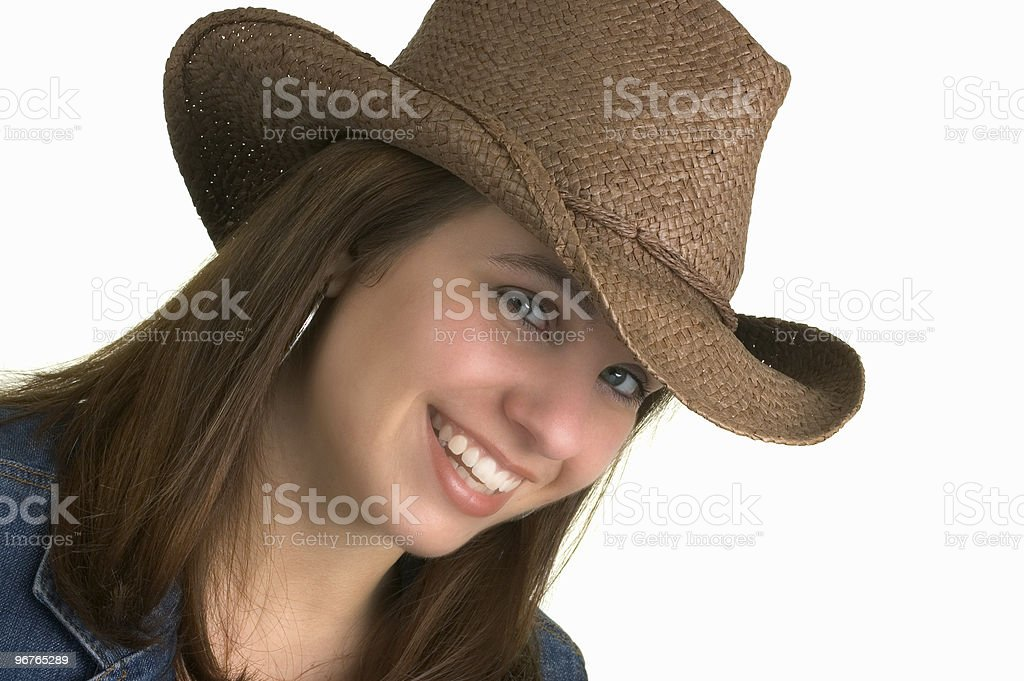 Country Girl Isolated, royalty-free stock photo