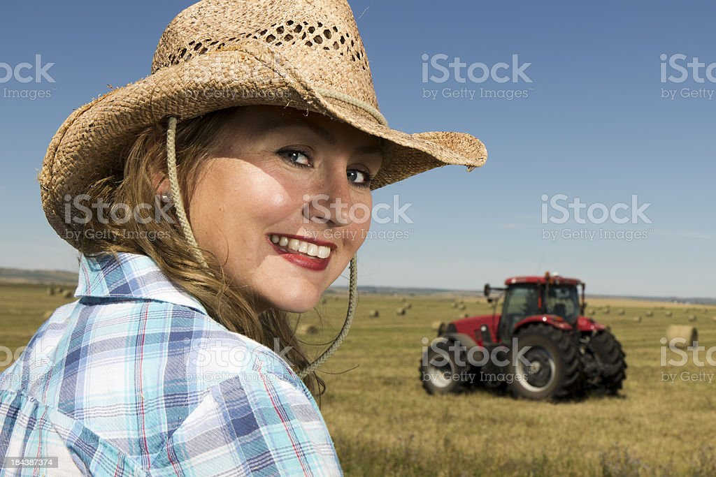 Country Girl on a Farm royalty-free stock photo