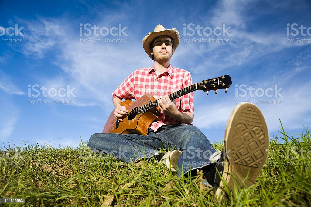 Country guitarist royalty-free stock photo