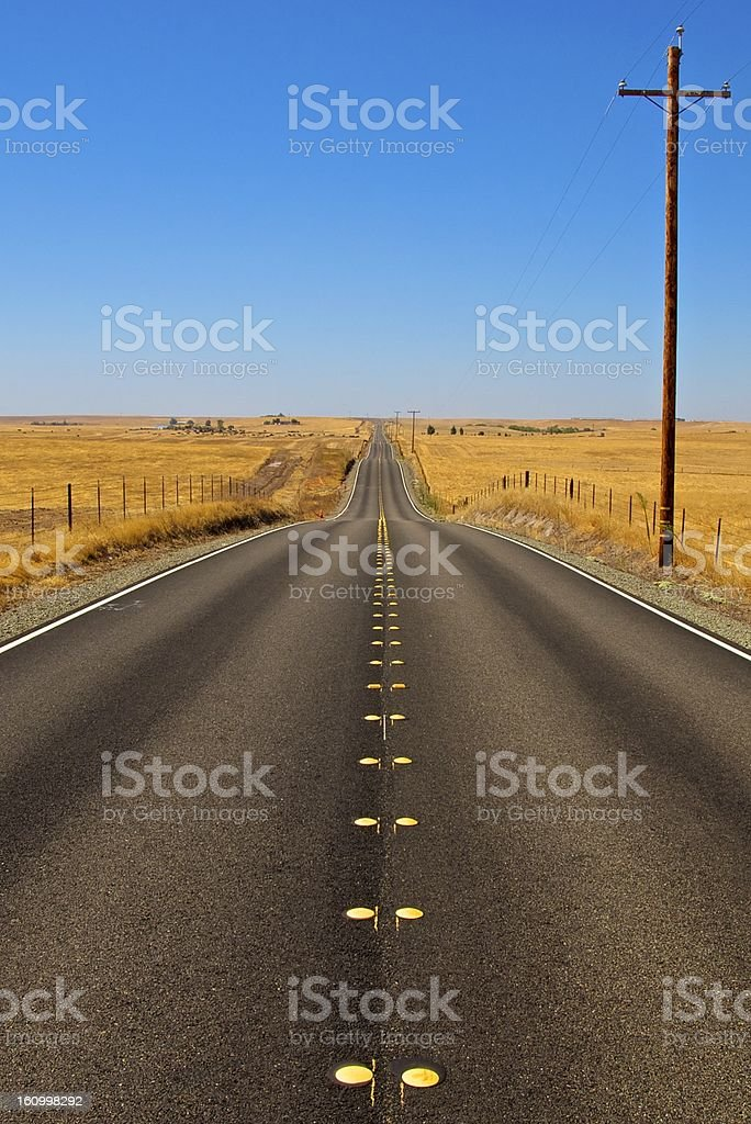 Country Highway - California, USA royalty-free stock photo