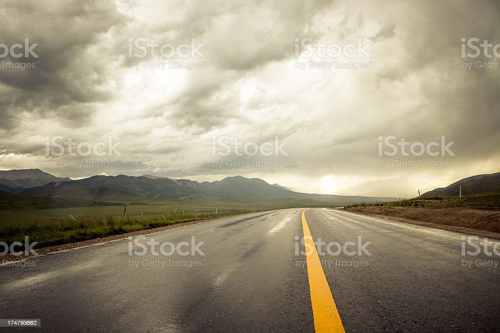 Country Highway royalty-free stock photo