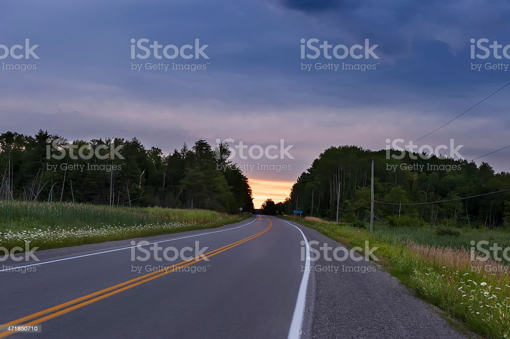 Country Highway stock photo