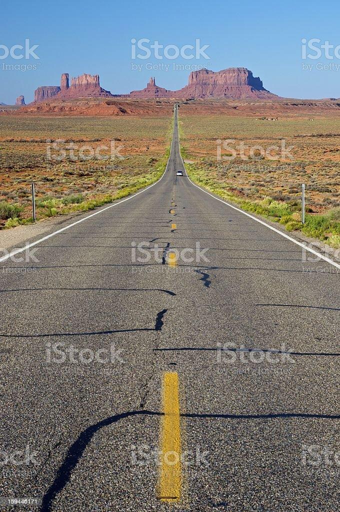 Country Highway - Utah, USA royalty-free stock photo
