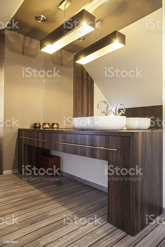 Country home - bathroom royalty-free stock photo