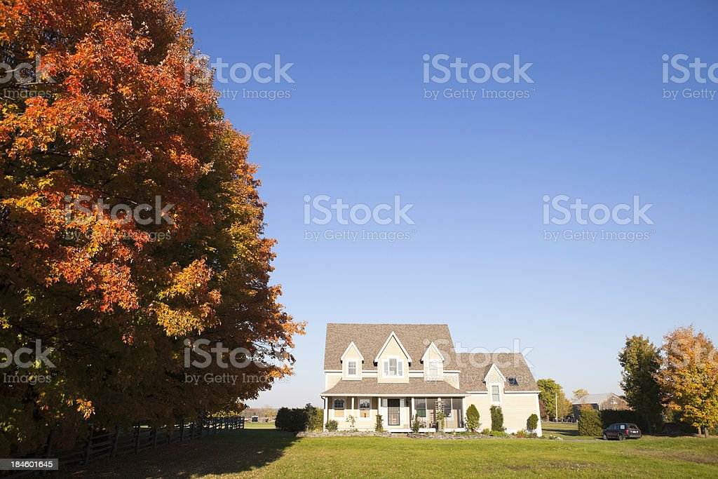 Country House During Autumn stock photo