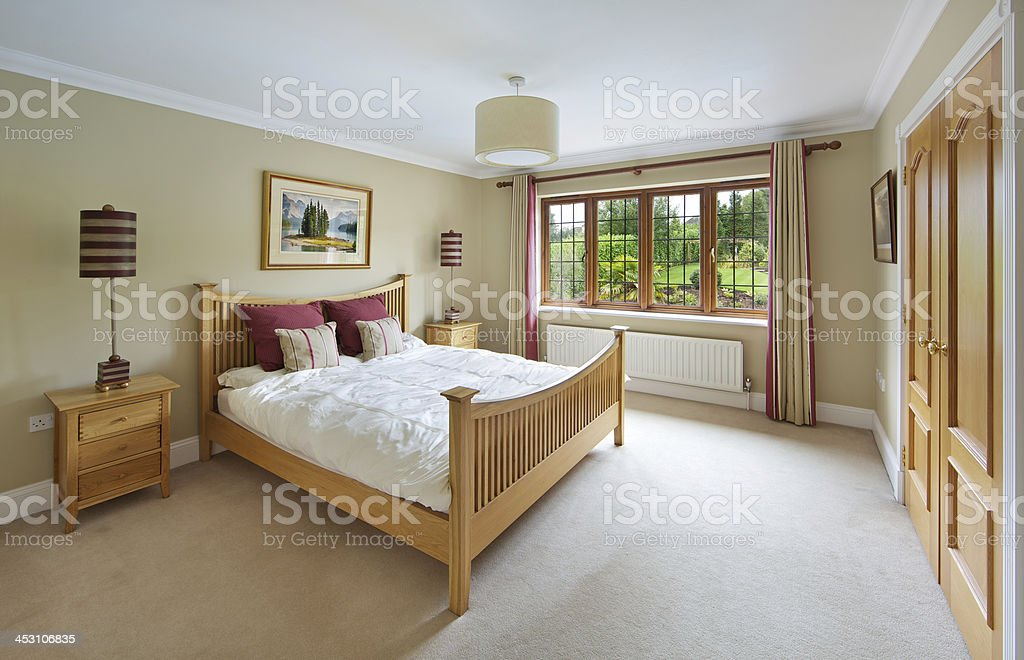 Country house guests bedroom stock photo