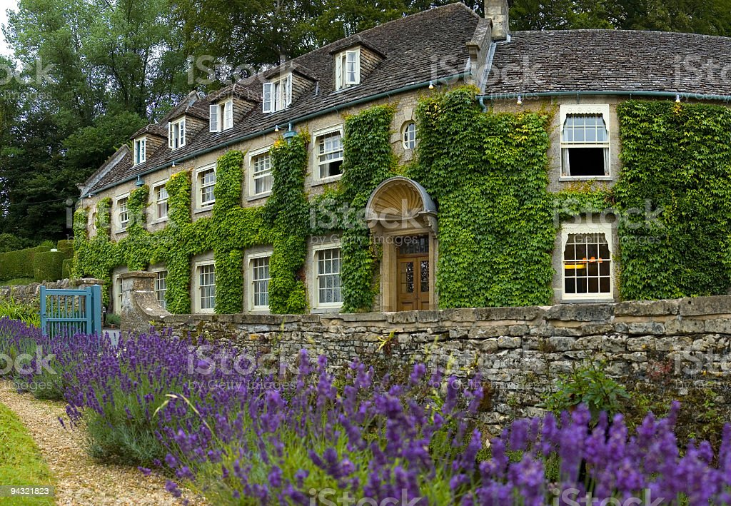 Country house hotel stock photo
