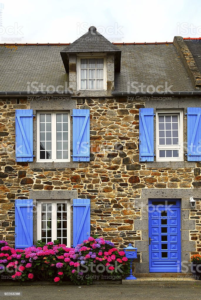 Country house in Brittany, France royalty-free stock photo