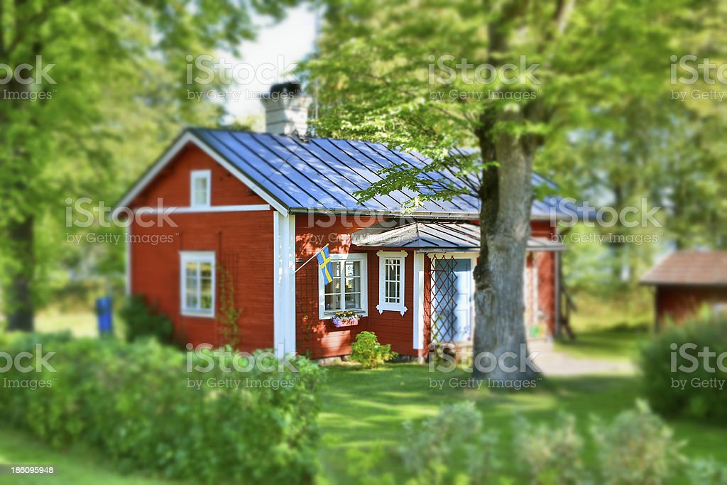 Country House in Sweden stock photo