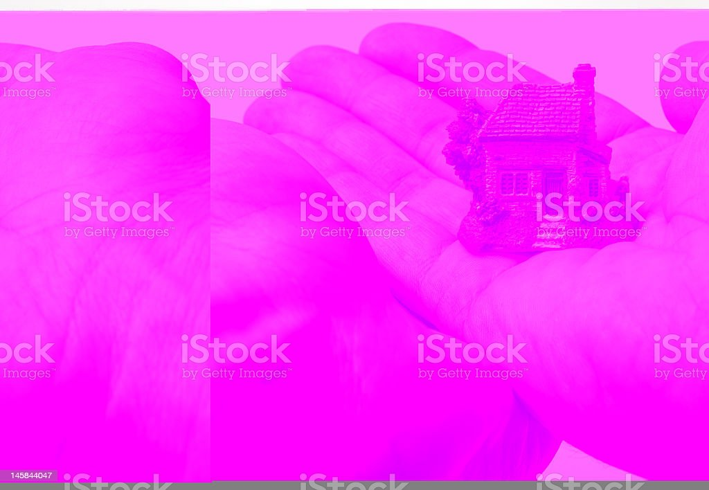 Country house in the hands royalty-free stock photo