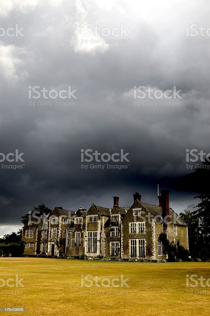 Country house, storm royalty-free stock photo
