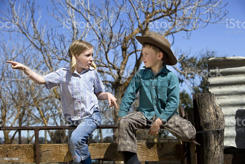 Country Kids royalty-free stock photo