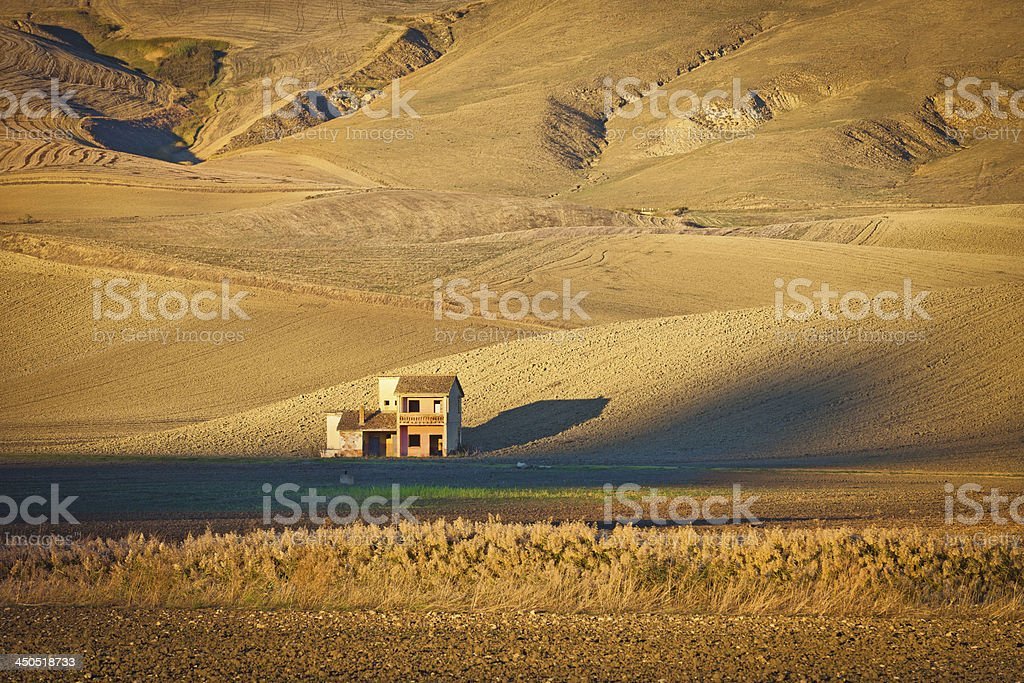 Country Landscape between Bacilicata and Pulia, Italy stock photo